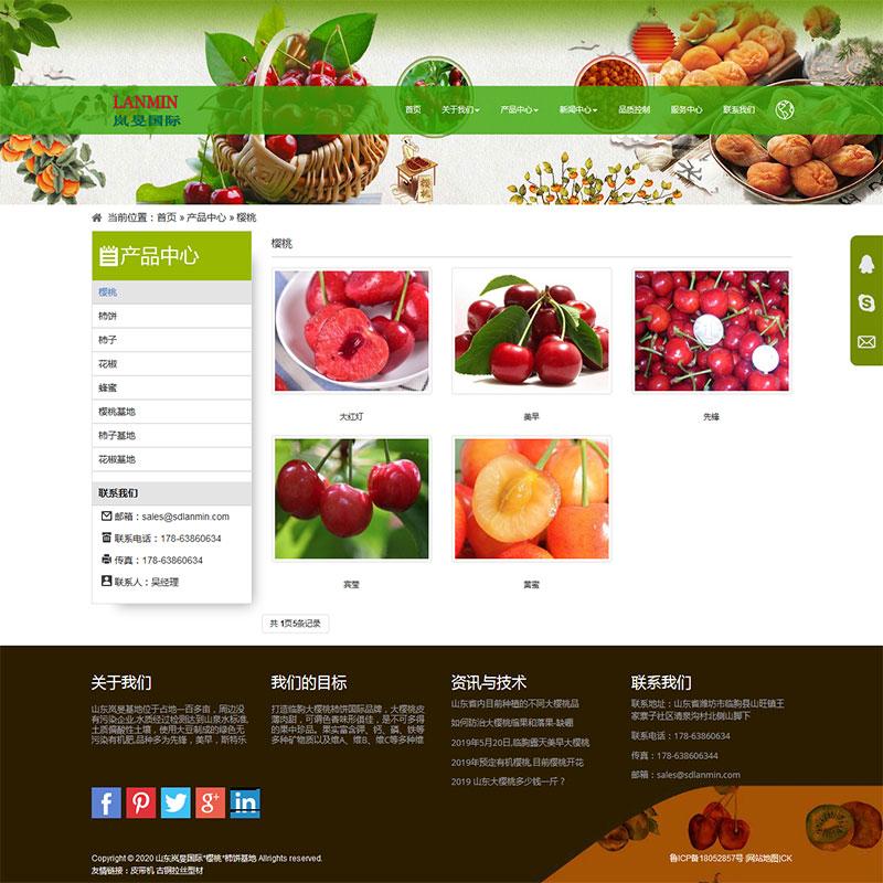 樱桃网站建设案例